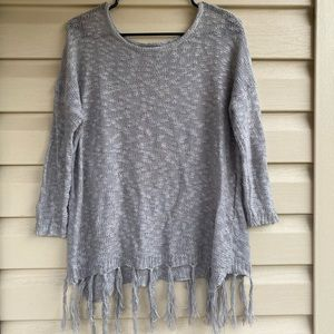 Umgee | Gray Knit Sweater | Small